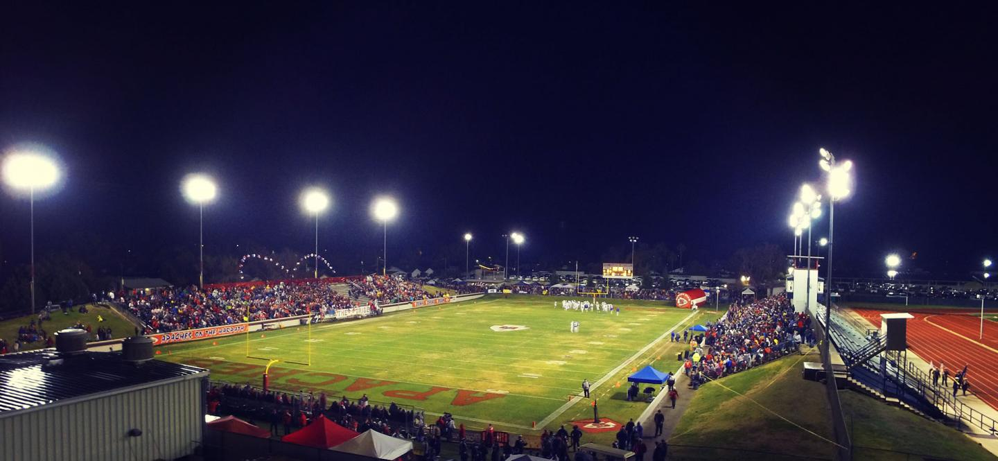 wide picture of SHS stadium